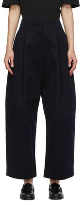 Studio Nicholson Navy Dordoni Volume Trousers