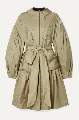MONCLER GENIUS 4 Simone Rocha Ellen Hooded Embellished Ruffled Shell Jacket - Beige