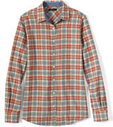 Classic Women's Tall Flannel Shirt-Bright Cherry Plaid
