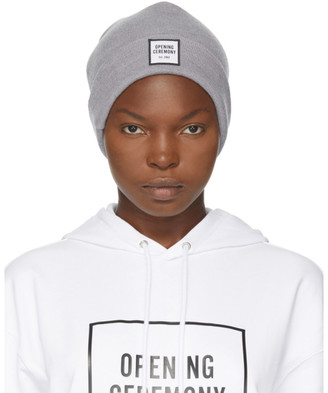 Opening Ceremony Grey Wool Logo Beanie
