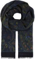 Ralph Lauren Purple Label Paisley Cashmere And Wool-blend Scarf