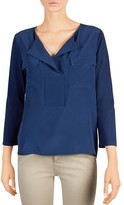Gerard Darel Tory Mixed Media Knit Top