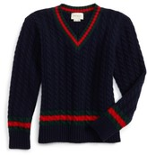 Gucci Boy's Cable Knit Wool Sweater