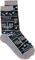Hot Sox Happy Hanukkah Crew Socks - Women's