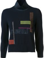 Christopher Kane Hotfix High Neck Sweater - women - Cashmere/Wool - S