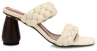 Souliers Martinez Mitjorn Woven Leather Mule Sandals