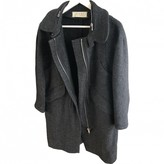 Marni Anthracite Wool Coat for Women