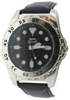 Slazenger Men's Quartz Watch with Black Dial Analogue Display and Black PU Strap SLZ58/C