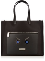 Fendi No Words Nylon And Leather Tote