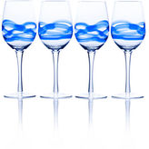 Mikasa Admiral Cobalt 17 Ounce Wine Glass Set Of 4 Boxed