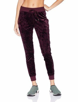 Betsey Johnson Women's Skinny Crushed Velvet Sweatpants