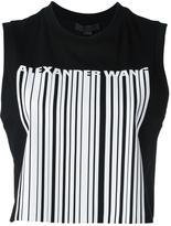 Alexander Wang welded barcode tank top