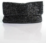 Moyna Black Brown Beaded Small Flap Clutch Handbag