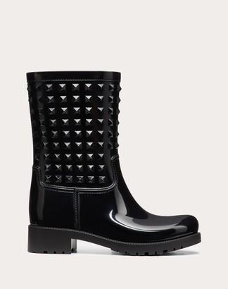 Valentino Rubber Rain Boot 25mm Women Black Pvc - Polyvinyl Chloride 100% 38