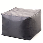 Charcoal Cube Ottoman