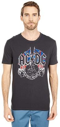 Lucky Brand AC/DC UK Tour Tee (Jet Black) Men's Clothing