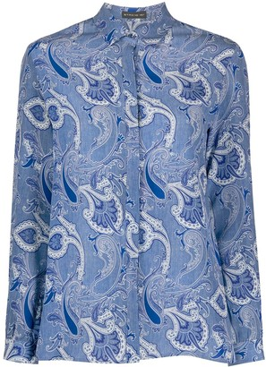 Etro Long Sleeve Paisley-Print Silk Shirt