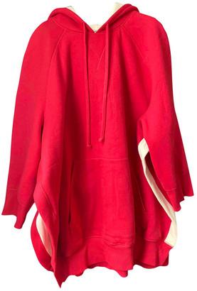 Celine Red Cotton Knitwear