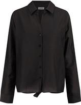L'Agence Hana Cotton And Silk-Blend Poplin Shirt