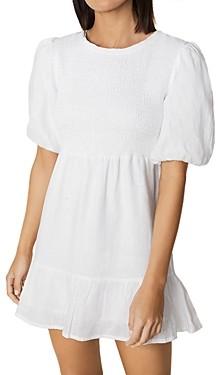 Faithfull The Brand Lorica Linen Mini Dress