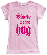 Urban Smalls Pink 'Shorty Wanna' Hug Fitted Tee - Toddler & Girls