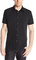 John Varvatos Men's Short Sleeve Button Front Shirt
