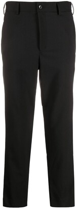 Black Comme Des Garçons Metallic Side Panel Trousers