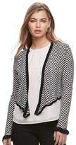 Candies Juniors' Pointelle Cropped Wrap Cardigan
