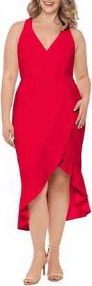 Xscape Evenings High/Low Midi Dress