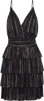 Vanessa Bruno Jennie Tiered Striped Gauze Mini Dress