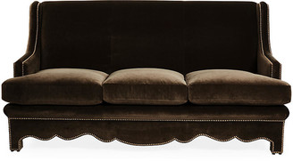 Bunny Williams Home Nailhead Sofa - Brown Velvet