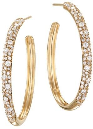 Lana 14K Yellow Gold & Diamond Cluster Hoop Earrings