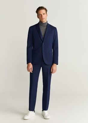 MANGO MAN - Super slim fit patterned suit blazer blue - 34 - Men