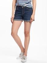 "Old Navy Cuffed Boyfriend Denim Shorts for Women (3"")"