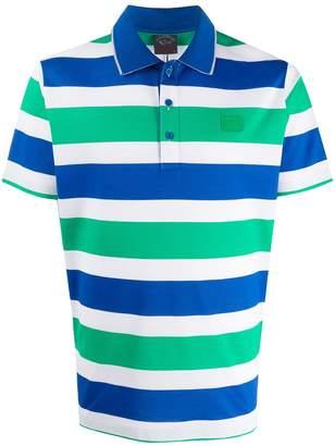 Paul & Shark Striped Short-Sleeved Polo Shirt