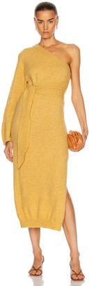 Nanushka Cedro Dress in Yellow | FWRD