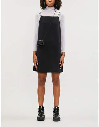 Calvin Klein Branded-straps stretch-jersey slip mini dress