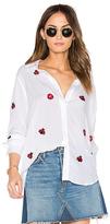 Lauren Moshi Paula Button Up Shirt in White