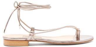 Emme Parsons Ava Wrap-around Metallic-leather Sandals - Womens - Gold