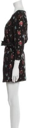 Lake Studio Floral Print Mini Dress Black