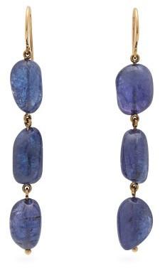 Jade Jagger Tanzanite & 18kt Gold Earrings - Womens - Blue