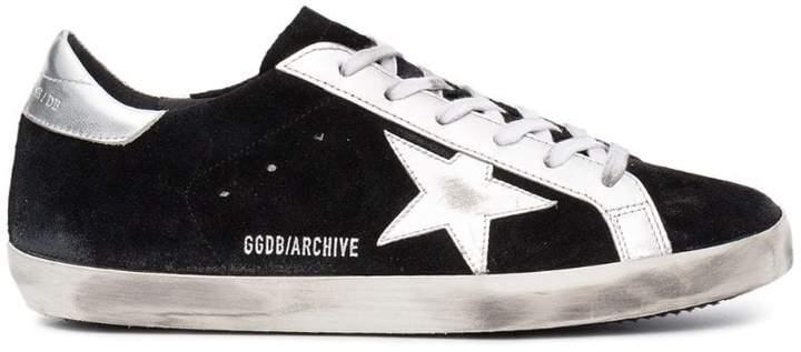 Golden Goose black Superstar suede sneakers