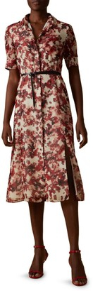 Altuzarra Kieran Short-Sleeve Floral Shirtdress