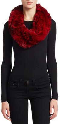 The Fur Salon Knit Chinchilla Scarf