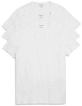 Giorgio Armani Emporio Pure Cotton V-Neck T-Shirts - Pack of 3