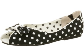 Not Rated Women's Freckles Peep Toe Flat