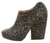 Dries Van Noten Louis VuittonNubuck Platform Ankle Boots