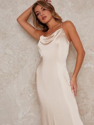Chi Chi London Trey Bridesmaid Dress - Champagne