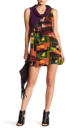 Papillon Sleeveless Exaggerated Turtleneck Dress