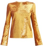Galvan Gilded Clara Sequinned Blouse - Womens - Bronze